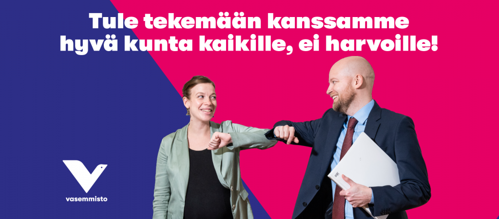 Li Andersson ja Jussi Saramo
